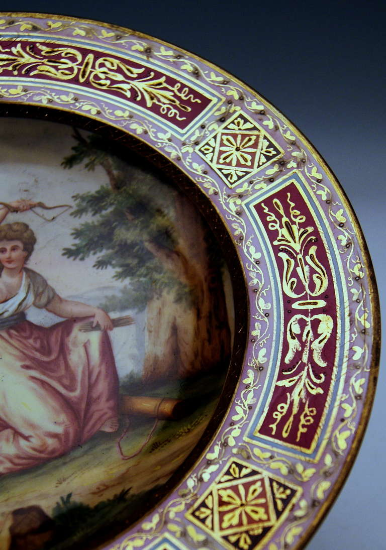 19th Century Plate Imperial Viennese Porcelain Manufactory dated 1816 For Sale