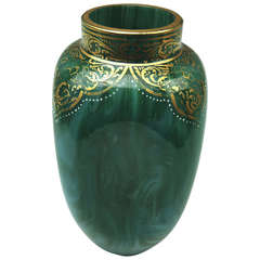 Loetz Widow Klostermuehle Art Nouveau Early Vase circa 1893 Decor Malac