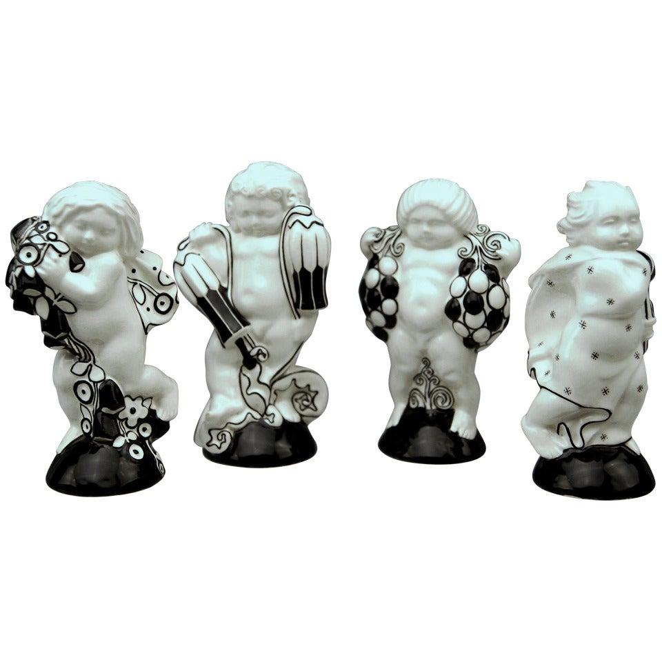 Michael Powolny Four Cherubs Seasons Lovely Figurines Made 1912