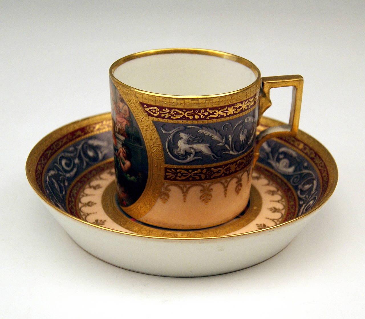 Imperial Porcelain Antique Mythology Cup And Saucer