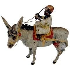 Vienna Bronze Made by Franz Bergman(n) Arab on Donkey c.1890 - 1900