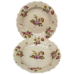 Two Huge Baroque, Imperial Viennese Porcelain Manufactory Plates, circa 1750