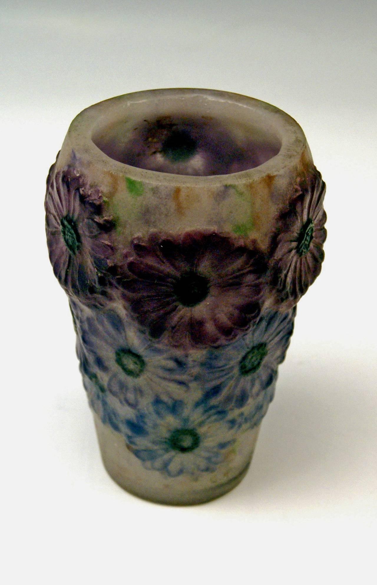 Art Deco Vase with Marigolds by Gabriel Argy-Rousseau, France circa 1920 4