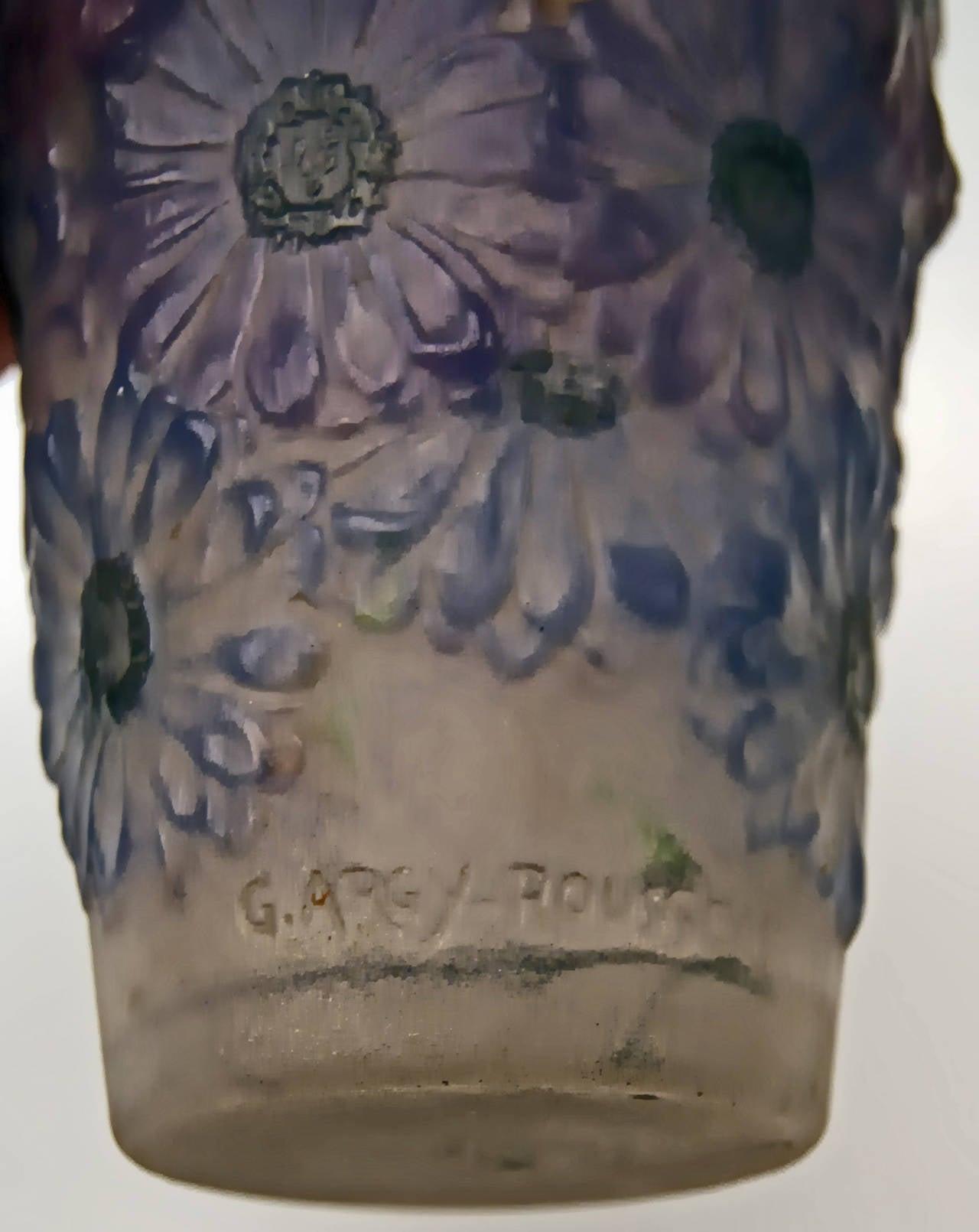 Art Deco Vase with Marigolds by Gabriel Argy-Rousseau, France circa 1920 7