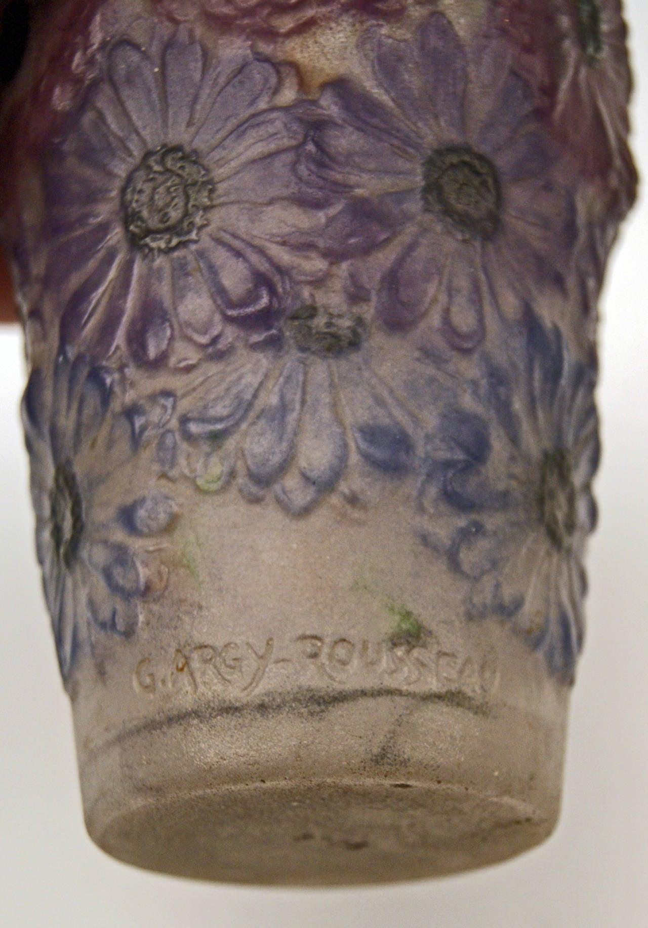 Art Deco Vase with Marigolds by Gabriel Argy-Rousseau, France circa 1920 8