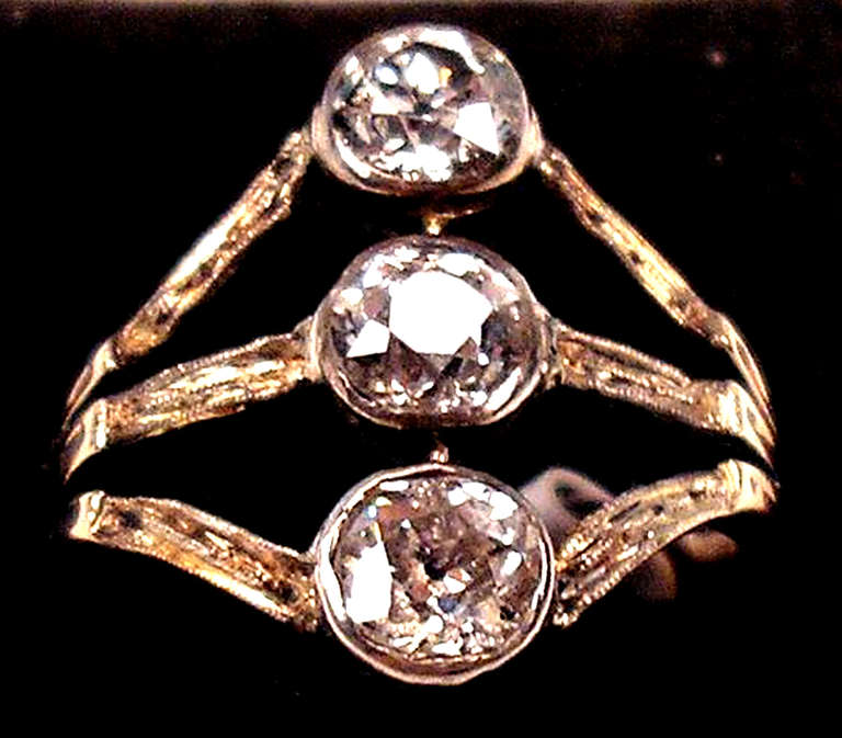 art nouveau 1 10 carat diamond gold vienna ring for sale at 1stdibs