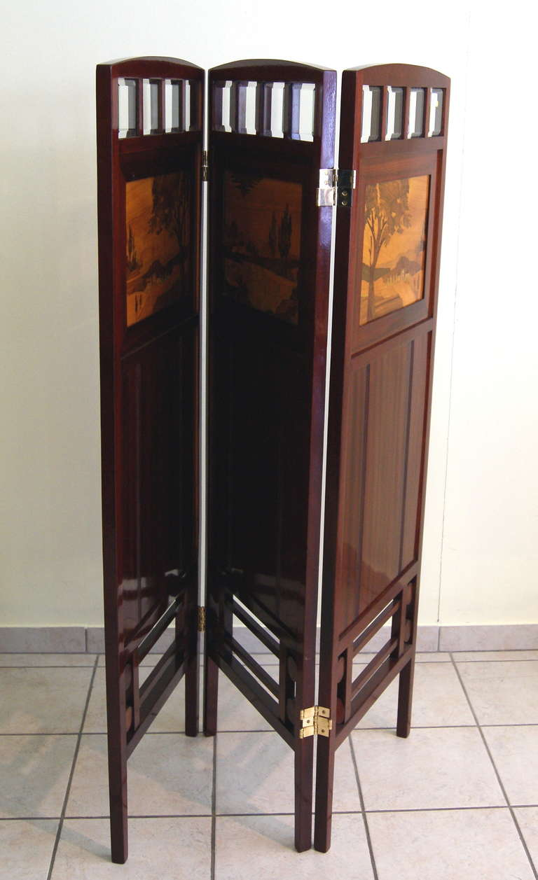 Art Nouveau Folding Screen, Vienna, Austria circa 1900 In Excellent Condition For Sale In Vienna, AT