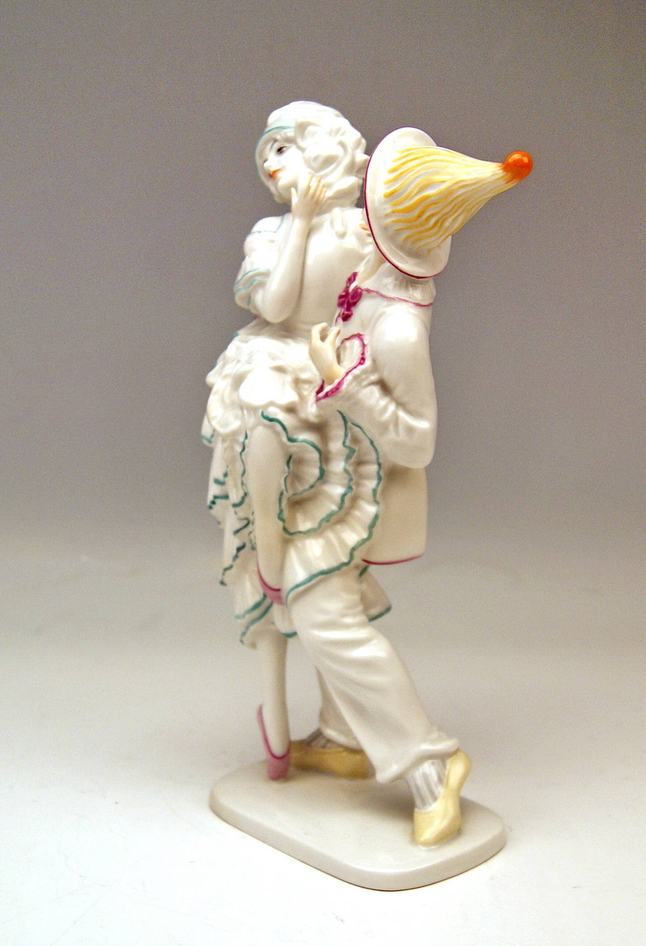 Gorgeous Rosenthal Germany Dancing Couple modelled by Constantin Holzer-Defanti 