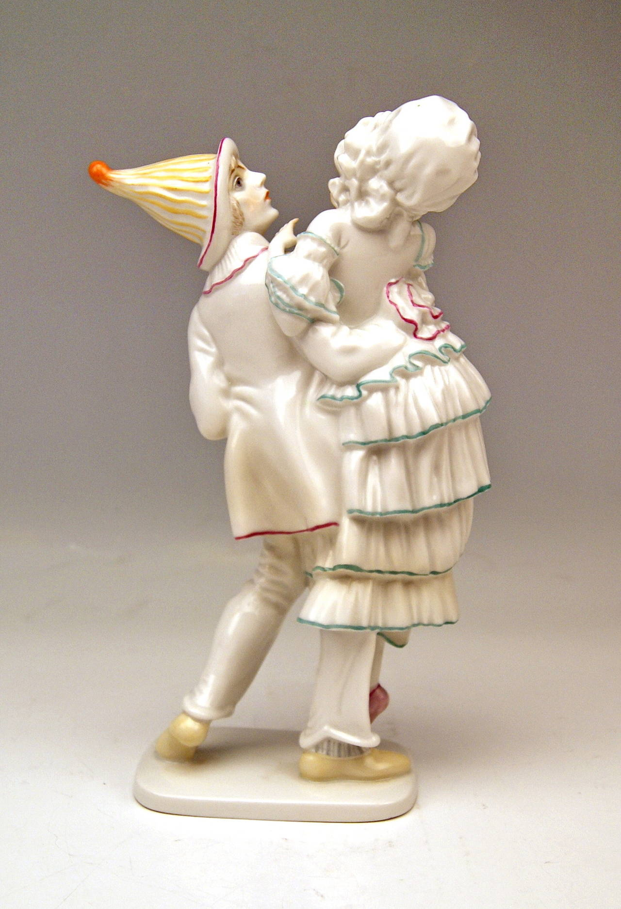 German ROSENTHAL GERMANY HARLEQUIN AND COLUMBINE C. HOLZER-DEFANTI c.1923-25 For Sale