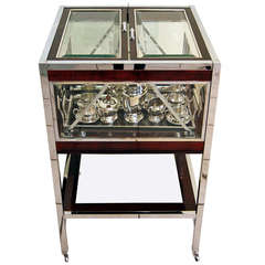 Art Nouveau Bar Serving Trolley Completely Furnished, circa 1910