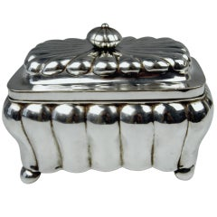 German Silver Biedermeier Sugar Box by G.F. Steusloff, circa 1853