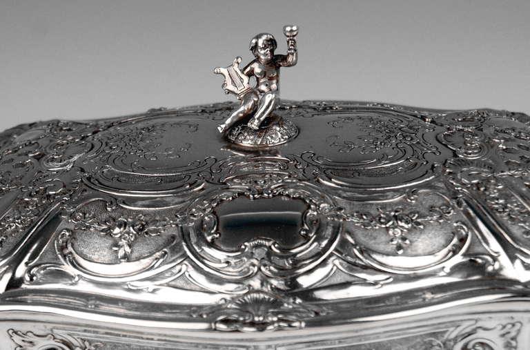 Silver Huge Lidded Bowl on Feet, Germany - Hanau, circa 1907-1910  1771 GRAMS    For Sale 1