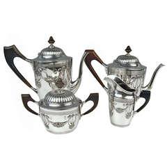 Silver Art Nouveau Coffee Tea Set Vintage Germany Bremen, circa 1905 - 10