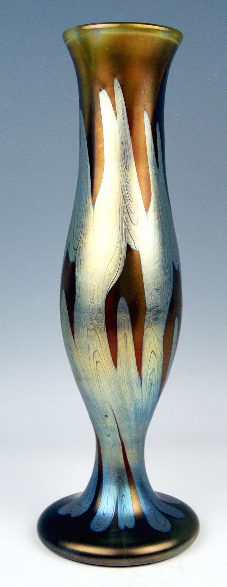 Vase Loetz Widow Klostermuehle Bohemia Art Nouveau Decor PG 29     13.2  inches 2