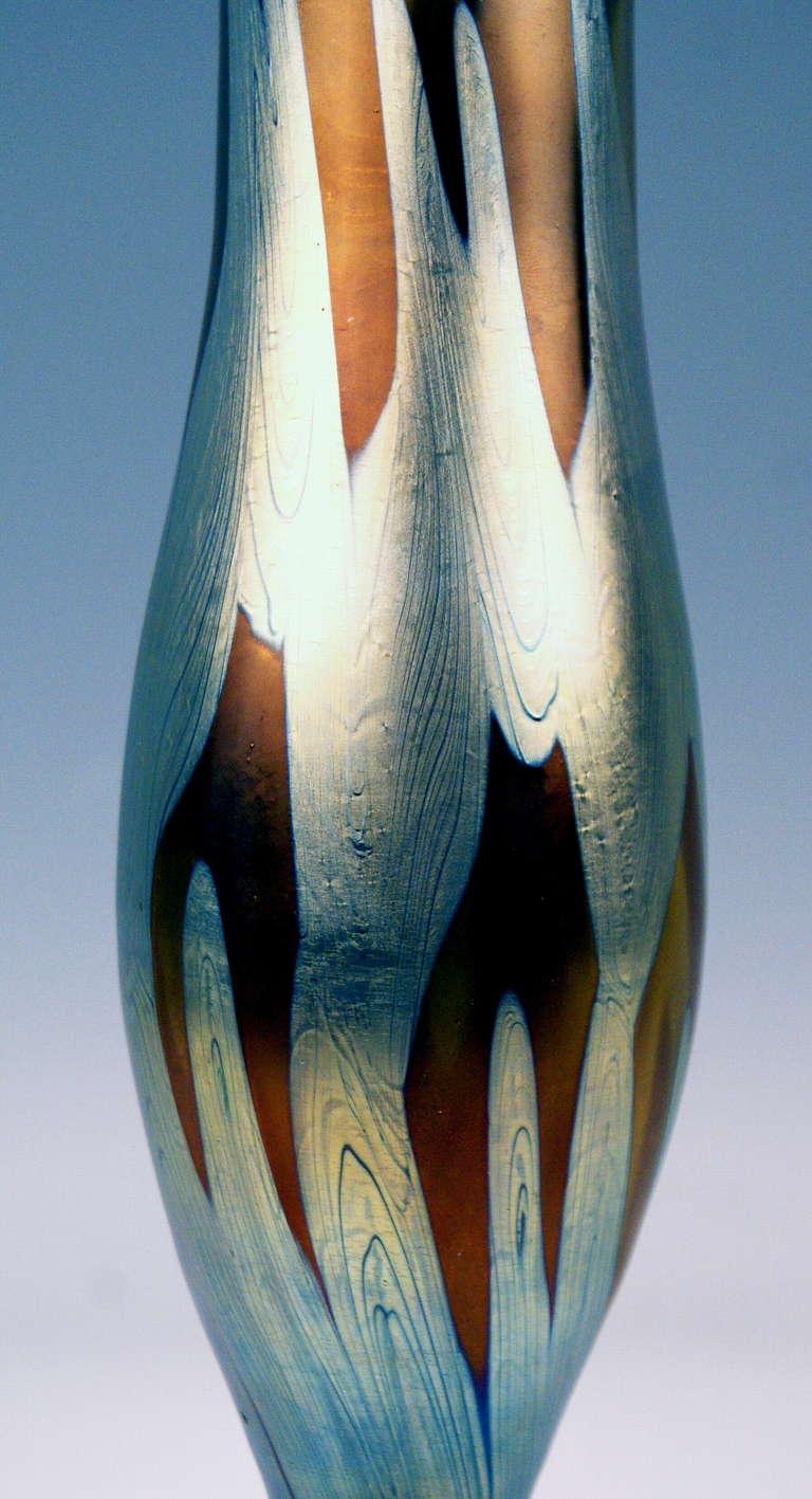 Vase Loetz Widow Klostermuehle Bohemia Art Nouveau Decor PG 29     13.2  inches 4