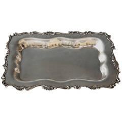 Silver Italian Excellent Serving Platter, circa 1870