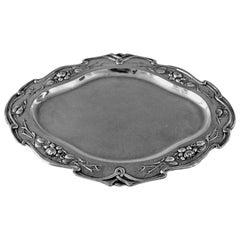 Silver Austrian Excellent Serving Platter, circa 1905