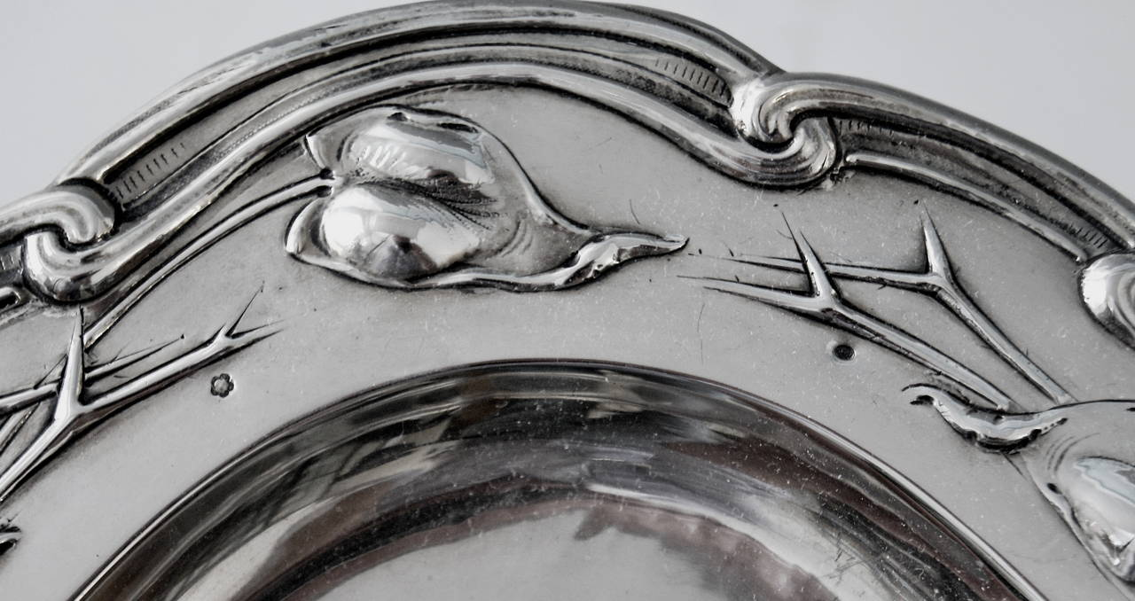 Early 20th Century Silver Austrian Excellent Serving Platter, circa 1905 For Sale