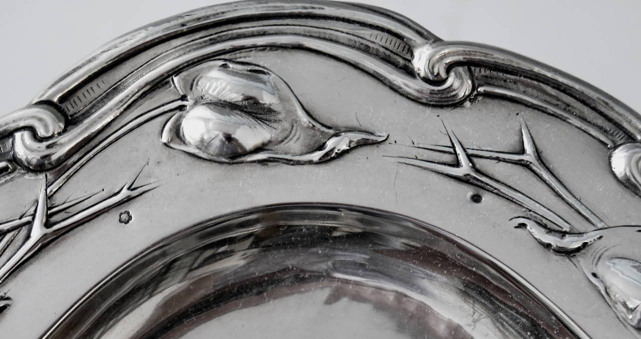 Silver Austrian Excellent Serving Platter, circa 1905 5