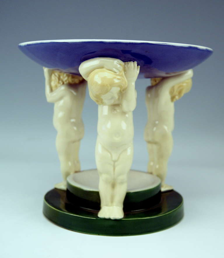Austrian Michael Powolny Art Nouveau Vienna Centrepiece Made 1910-1912 For Sale