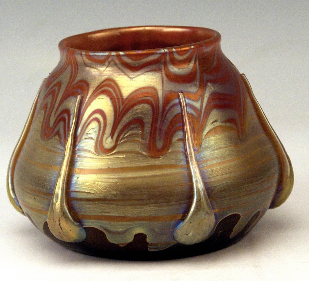 Vase Loetz Widow Art Nouveau by Franz Hofstötter, circa 1900 2