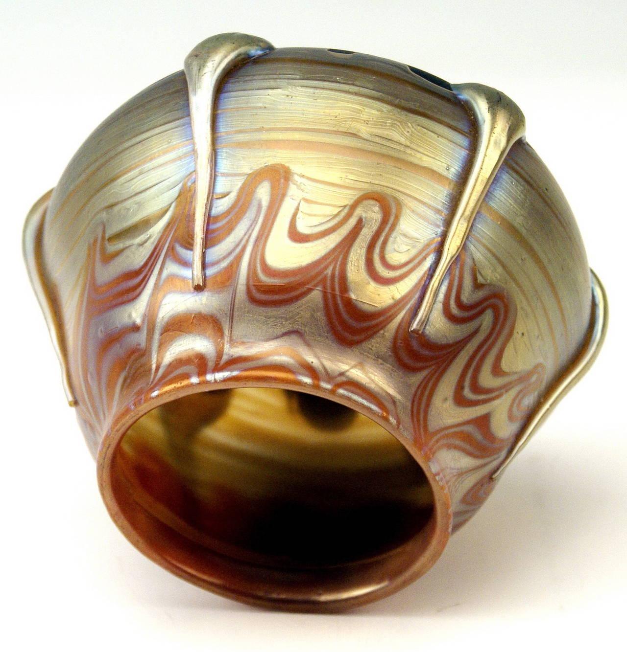 Vase Loetz Widow Art Nouveau by Franz Hofstötter, circa 1900 For Sale 1