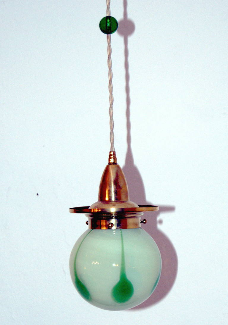 Art Nouveau Finest Suspended Lamp Loetz Pendant Made C