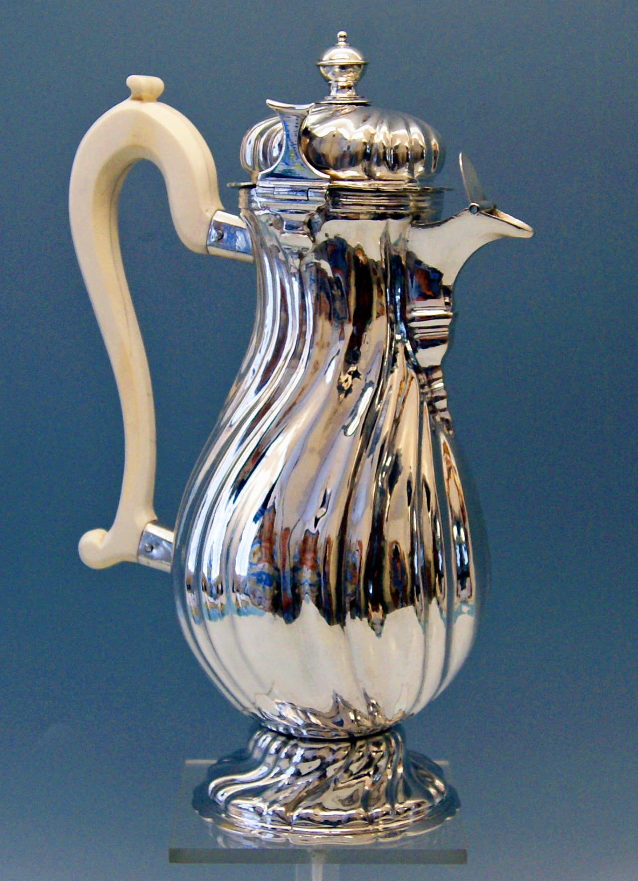 Silver Baroque milk/coffee pot/Augsburg Germany vintage, 