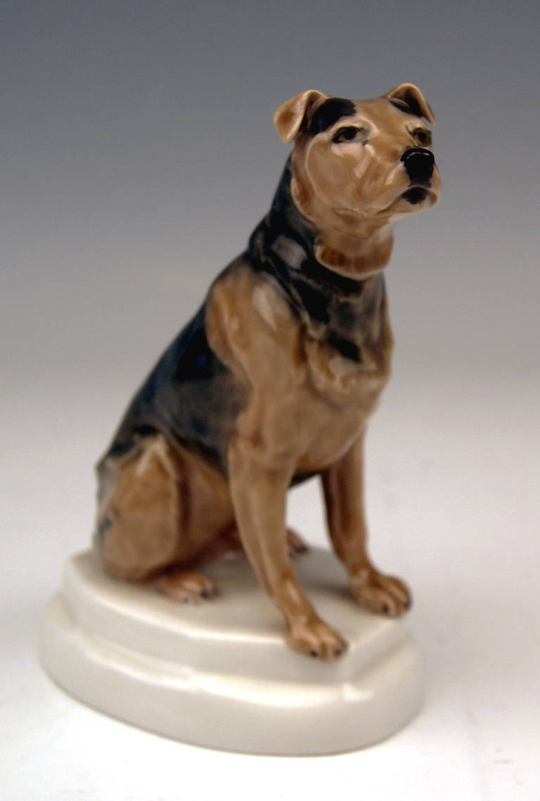 Meissen Lovely Figurine Of Dog: