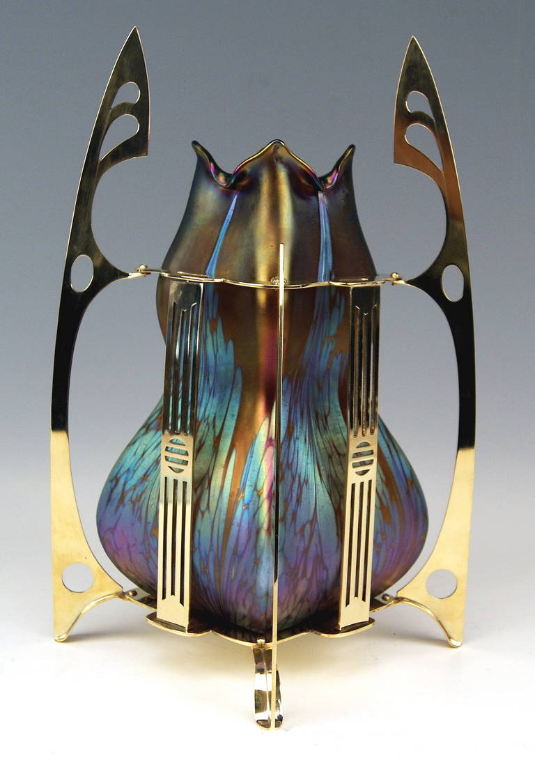 Austrian Vase Loetz Widow Klostermuehle Bohemia Art Nouveau Decor, circa 1903 For Sale