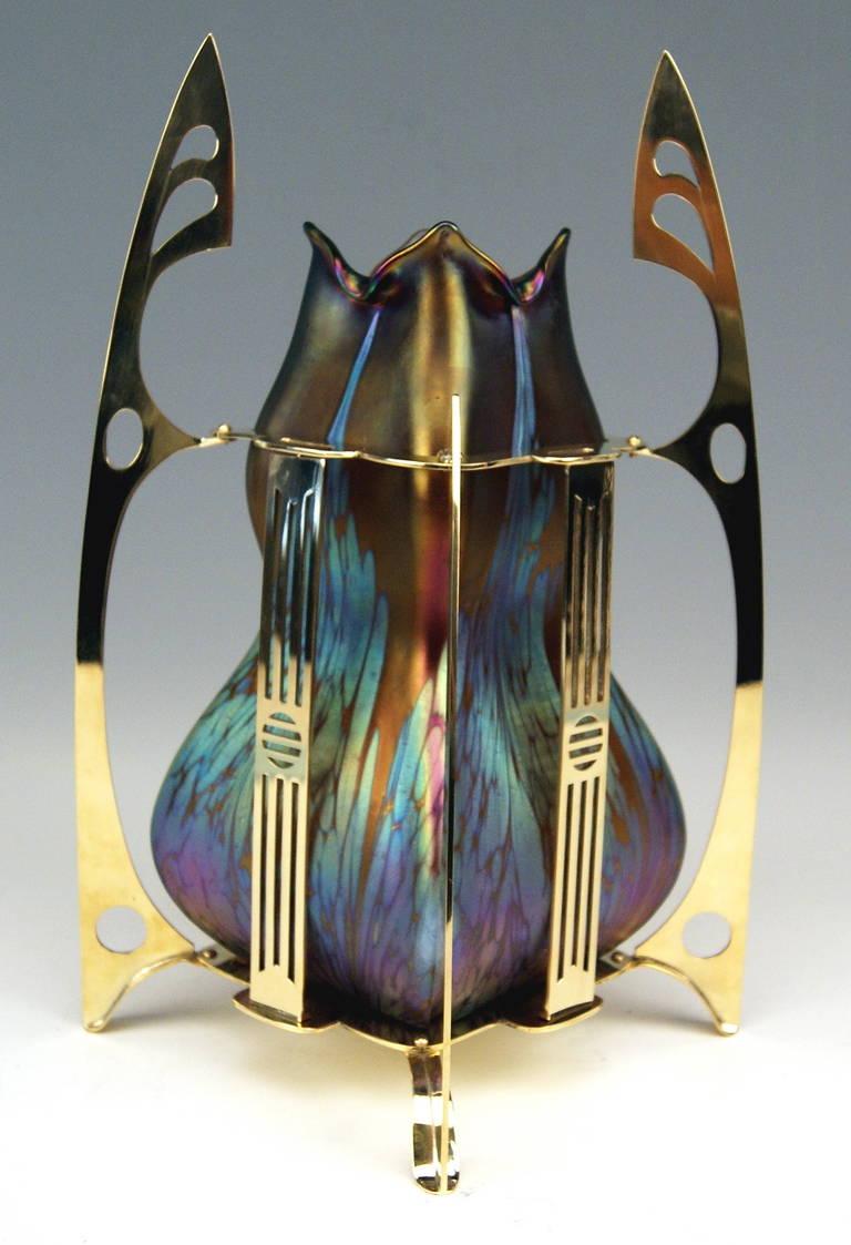 Vase Loetz Widow Klostermuehle Bohemia Art Nouveau Decor, circa 1903 In Excellent Condition For Sale In Vienna, AT