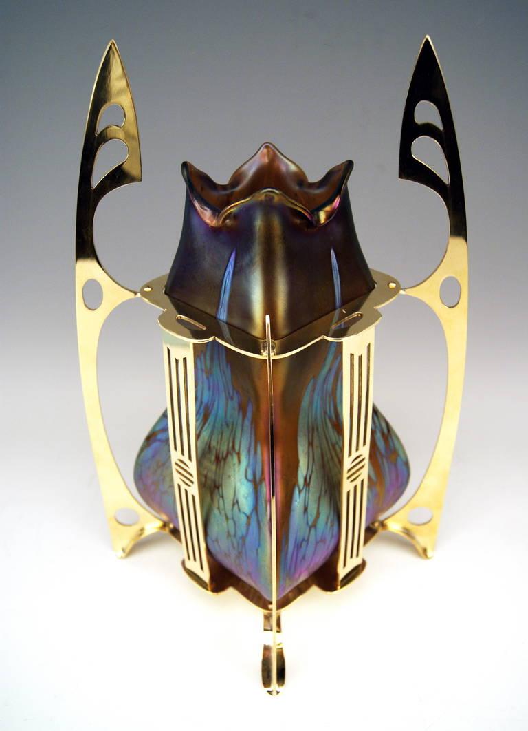 Vase Loetz Widow Klostermuehle Bohemia Art Nouveau Decor, circa 1903 For Sale 2
