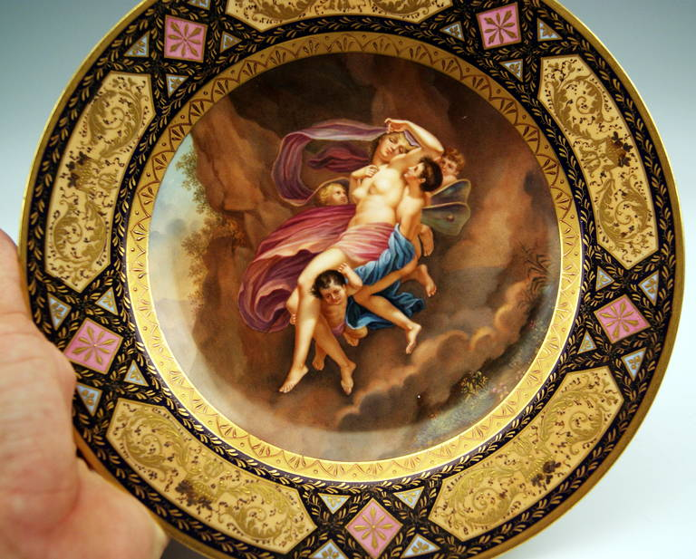 Gorgeous Plate Viennese Imperial Porcelain Manufactory Vintage, Dated 1790 9