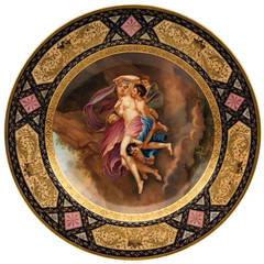Gorgeous Plate Viennese Imperial Porcelain Manufactory Vintage, Dated 1790