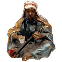 Vienna Bronze Vintage by Franz Bergman Arab Man en Miniature, circa 1890