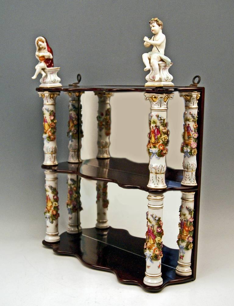 Porcelain Shelves Dresden Porcelain With Cherubs Circa