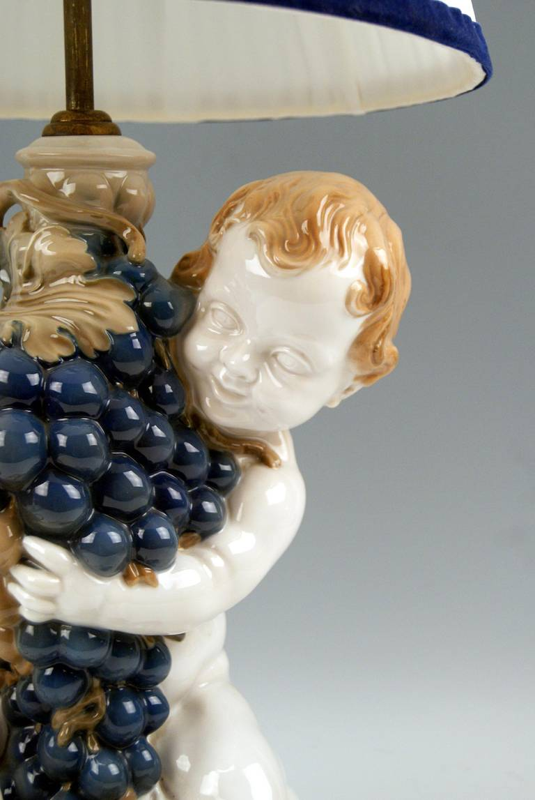 Rosenthal Germany Huge Cherub Table Lamp by Constantin Holzer-Defanti circa 1920 For Sale 3
