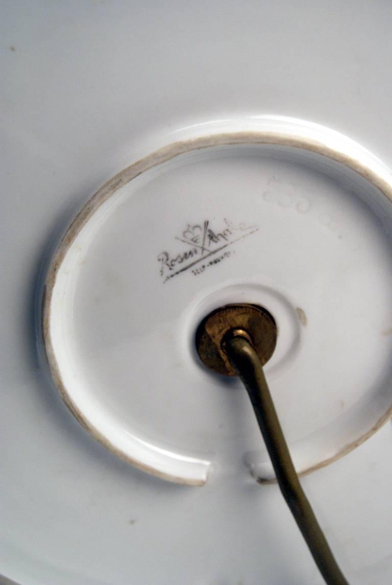 Rosenthal Germany Huge Cherub Table Lamp by Constantin Holzer-Defanti circa 1920 9