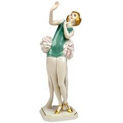 Rosenthal Germany Female Art Deco Figurine Janine by D. Charol, circa 1929