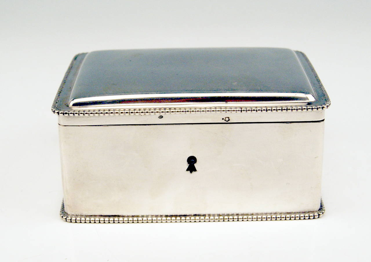 Austrian  gorgeous Silver Sugar Box 