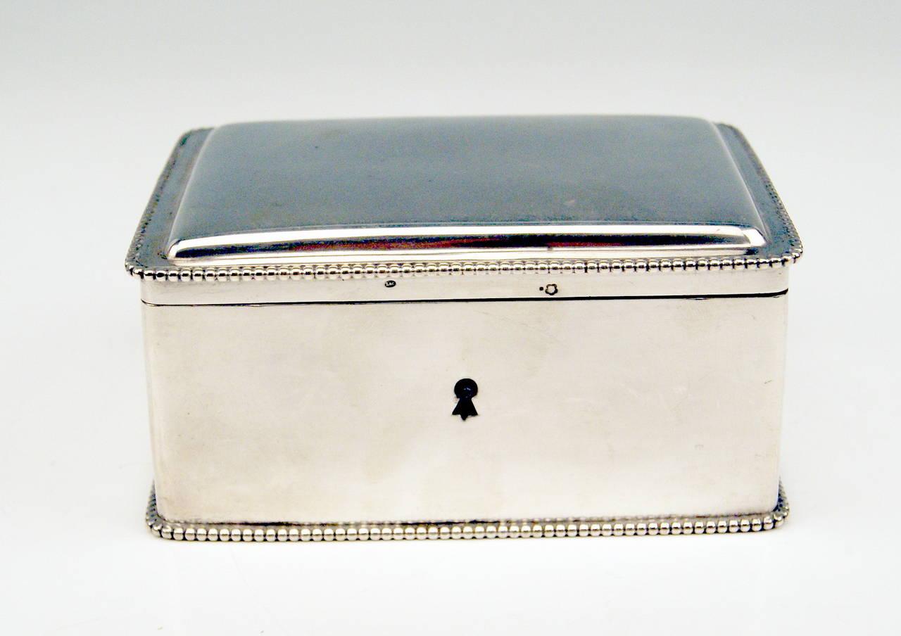 Silver Austrian Art Nouveau Sugar Box Made in Vienna, circa 1900 2