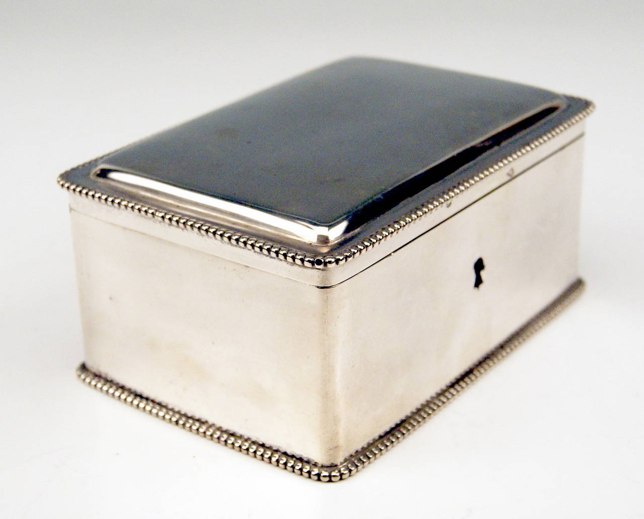Silver Austrian Art Nouveau Sugar Box Made in Vienna, circa 1900 In Excellent Condition For Sale In Vienna, AT