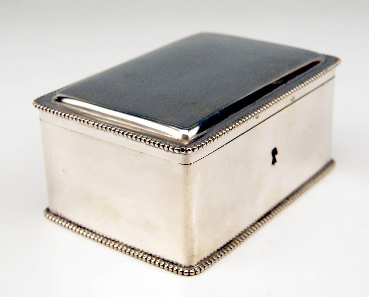 Silver Austrian Art Nouveau Sugar Box Made in Vienna, circa 1900 3