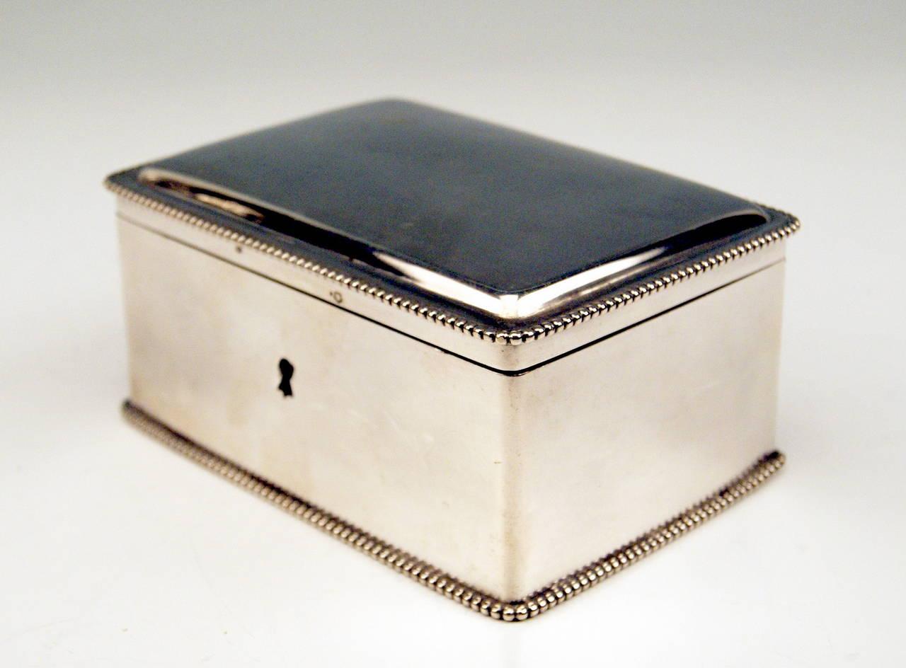 Silver Austrian Art Nouveau Sugar Box Made in Vienna, circa 1900 4