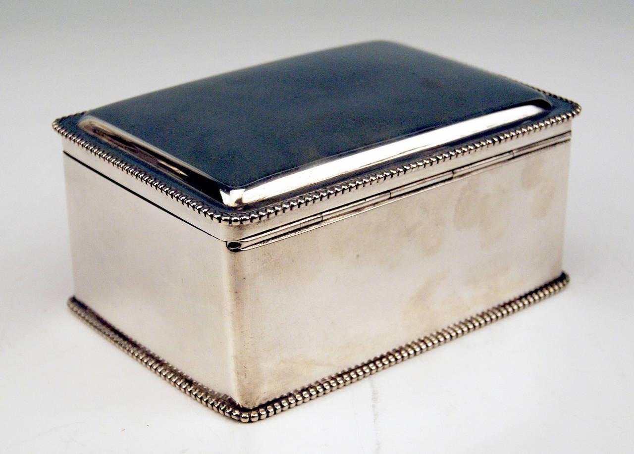 Silver Austrian Art Nouveau Sugar Box Made in Vienna, circa 1900 5