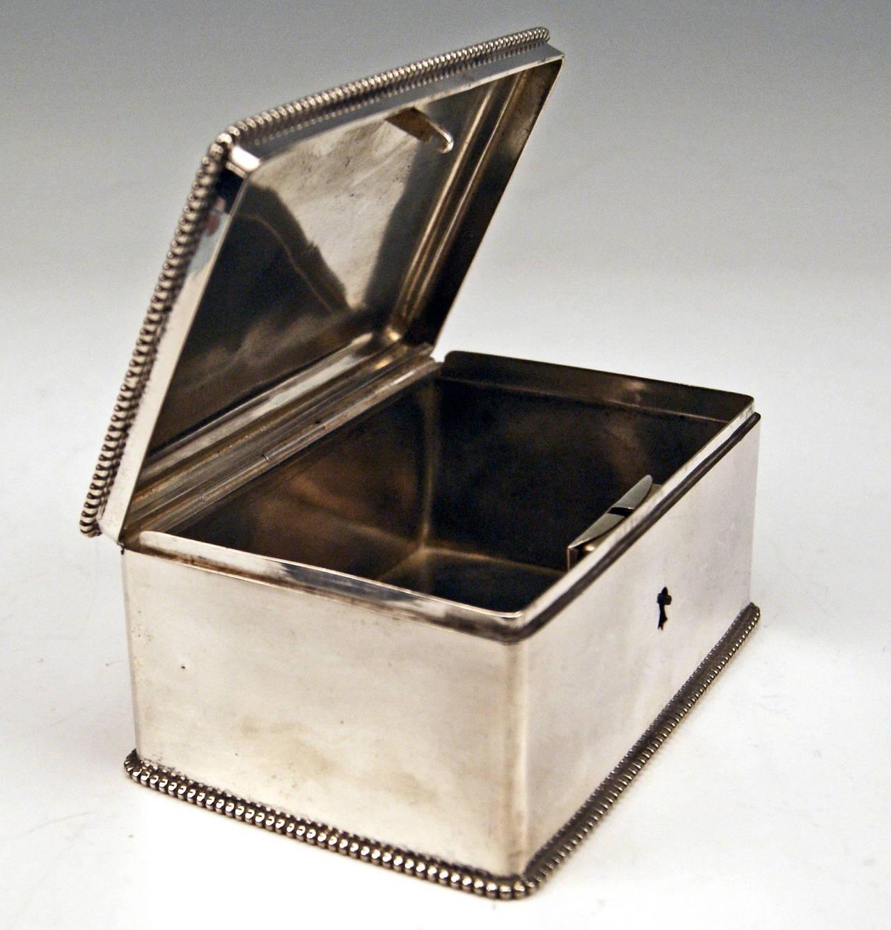 Silver Austrian Art Nouveau Sugar Box Made in Vienna, circa 1900 6