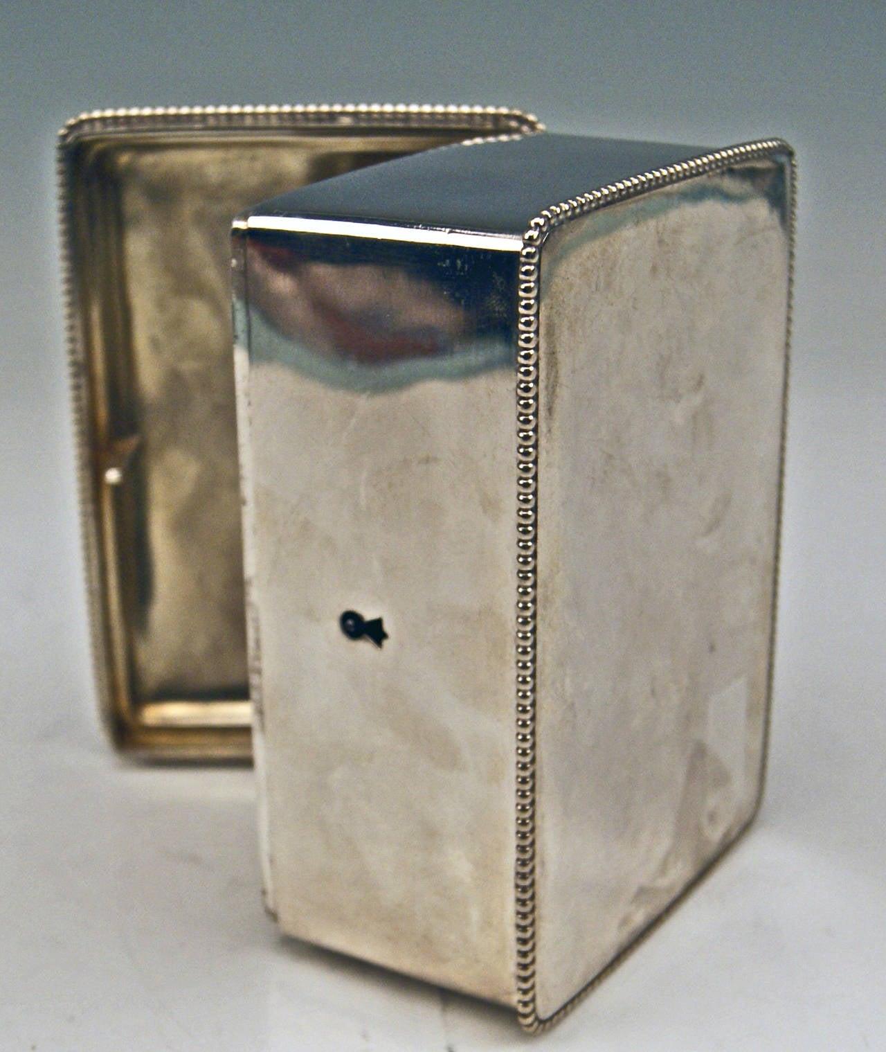 Silver Austrian Art Nouveau Sugar Box Made in Vienna, circa 1900 8