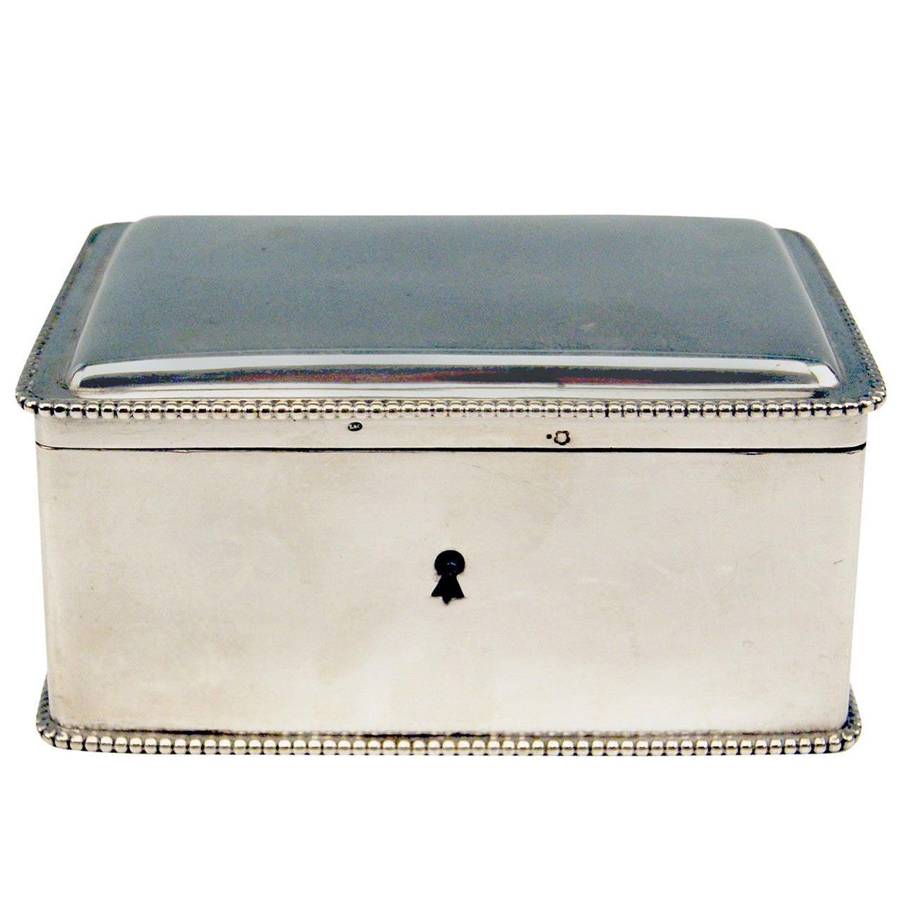 Silver Austrian Art Nouveau Sugar Box Made in Vienna, circa 1900 1