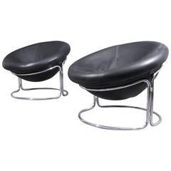 Pair of Rarely Ballchairs Designed by Harvey Guzzini, Italy, 1970