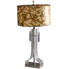 Amazing Sculptural Lucite Table Lamp, 1970s, Italian